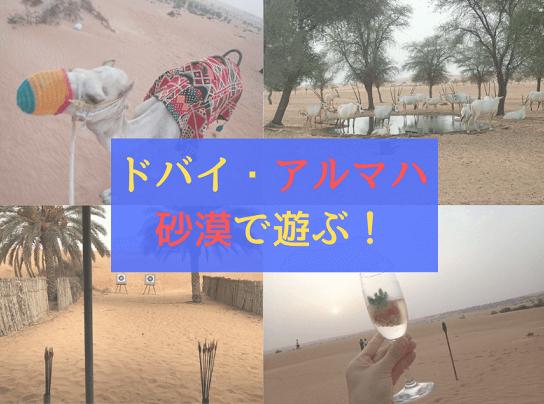 ドバイのアルマハの砂漠アクティビティーイメージ