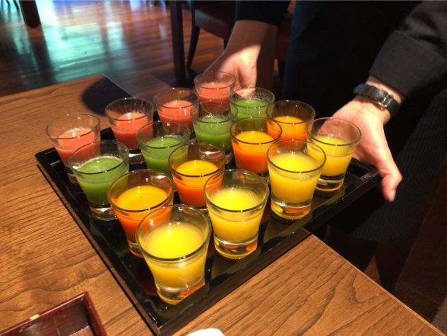 翠嵐の朝食の選べるジュース