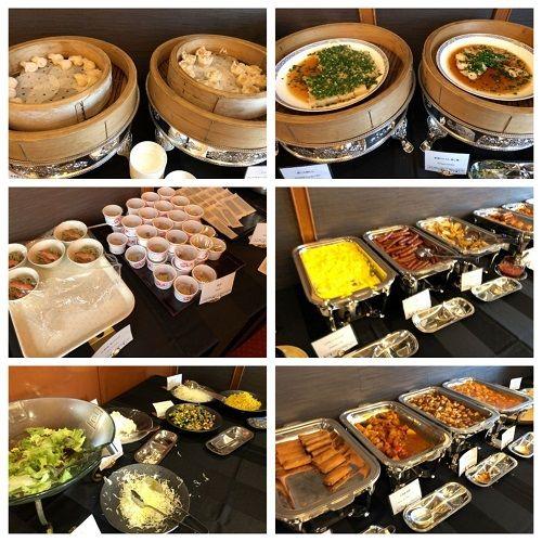 シェラトン宮崎の中華「藍海」朝食メニュー