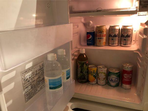 シェラトン宮崎の部屋冷蔵庫