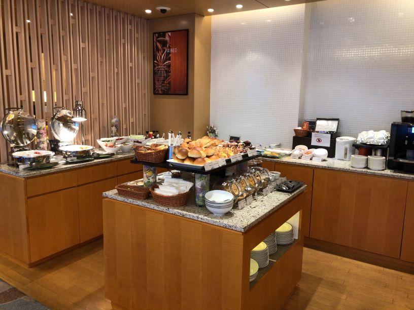 シェラトン広島ラウンジ朝食の様子
