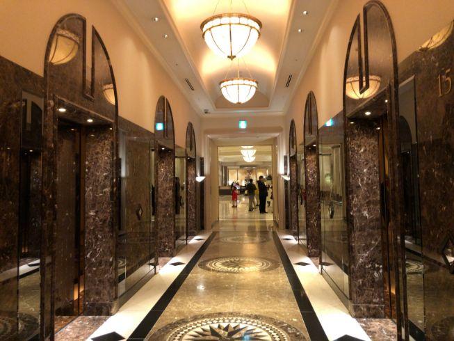 名古屋マリオットアソシアホテルのエレベーターホール