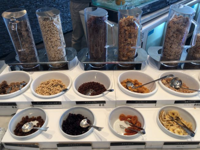 パーゴラの朝食ビュッフェのメニュー