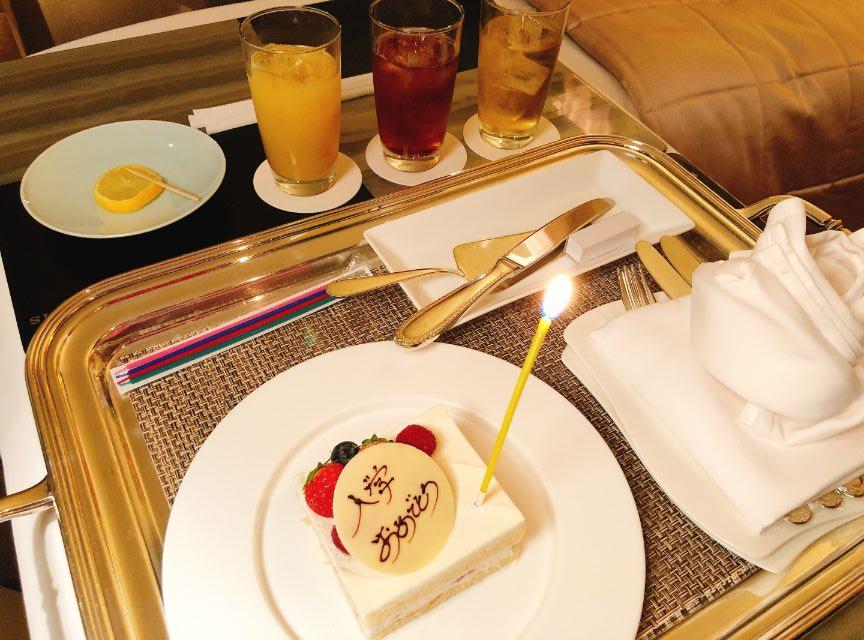 プレゼントのケーキ