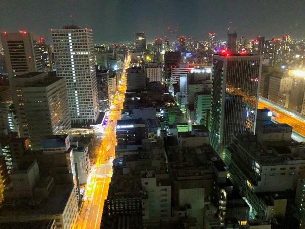 セントレジス大阪からの夜景