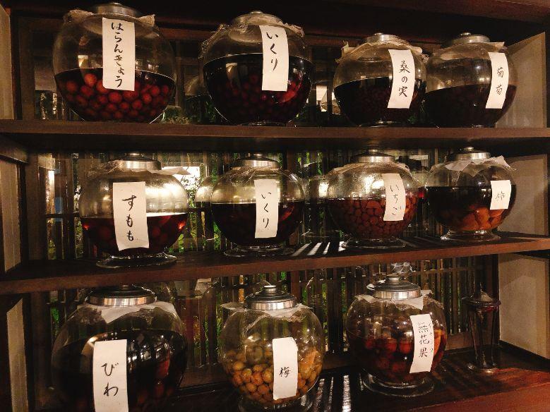 二本の葦束自家製の果実酒