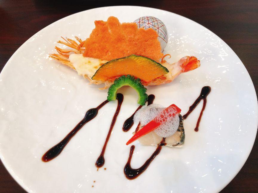 ディナーメニュー魚ポアレ