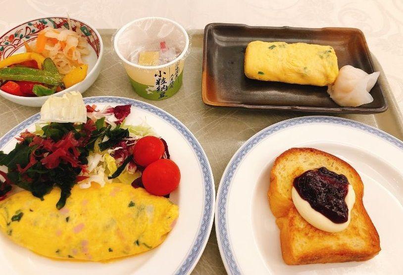 私が食べた朝食