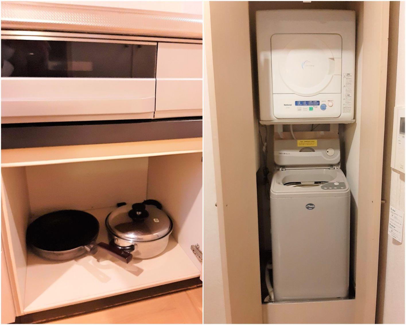 調理道具と洗濯機