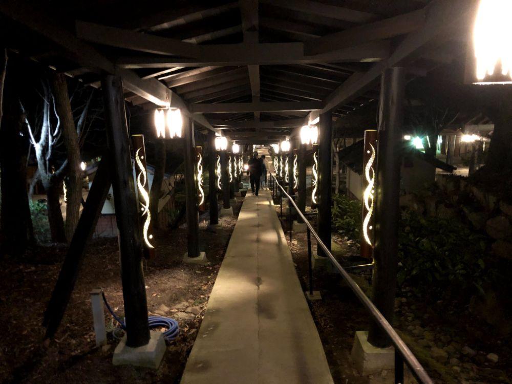 夜の竹灯篭